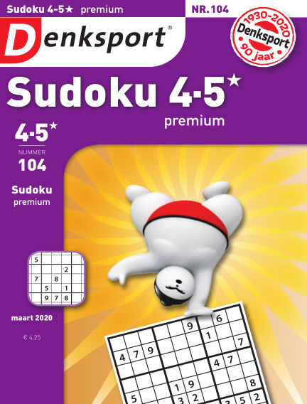 Denksport Sudoku 4-5* premium February 20, 2020 00:00