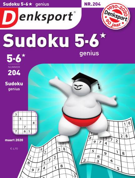 Denksport Sudoku 5-6*  genius February 27, 2020 00:00