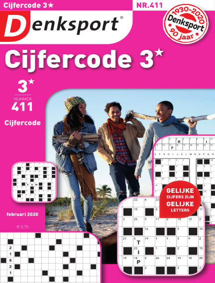 Denksport Cijfercode 3* January 30, 2020 00:00