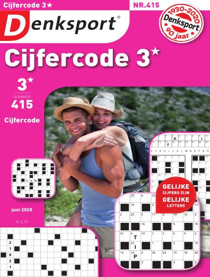 Denksport Cijfercode 3* May 21, 2020 00:00