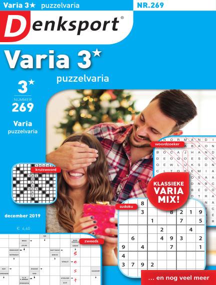 Denksport Varia 3* Puzzelvaria December 20, 2019 00:00