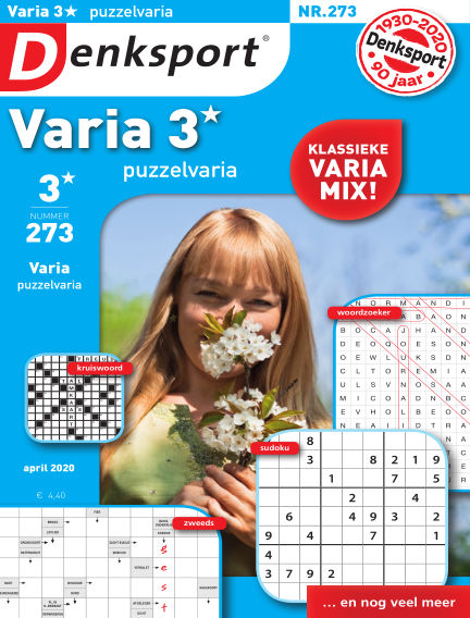 Denksport Varia 3* Puzzelvaria March 19, 2020 00:00