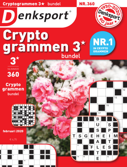 Denksport Cryptogrammen 3* bundel February 06, 2020 00:00