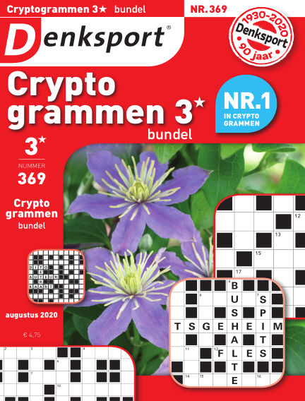 Denksport Cryptogrammen 3* bundel August 13, 2020 00:00