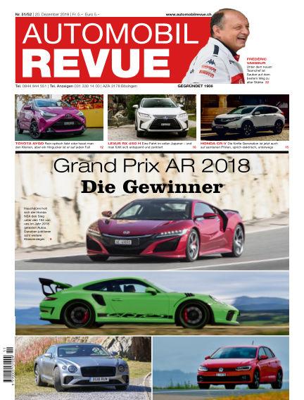 Automobil Revue December 20, 2018 00:00