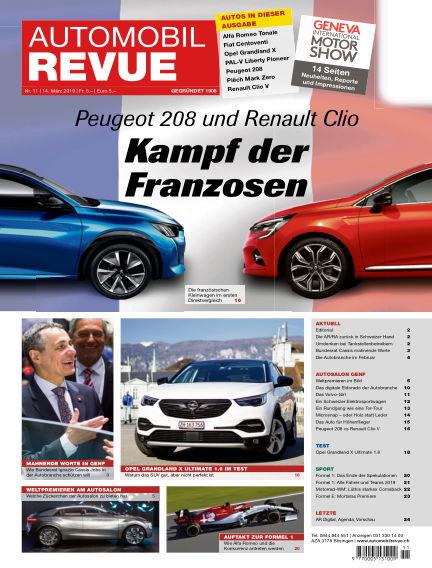 Automobil Revue March 14, 2019 00:00