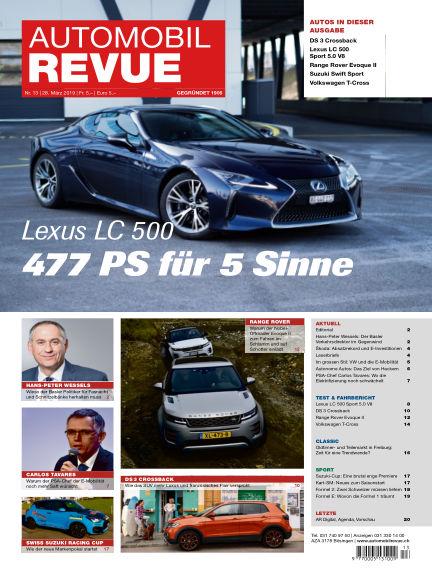 Automobil Revue March 28, 2019 00:00