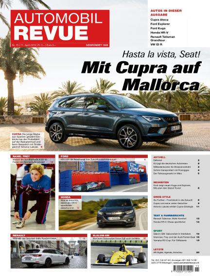Automobil Revue April 11, 2019 00:00