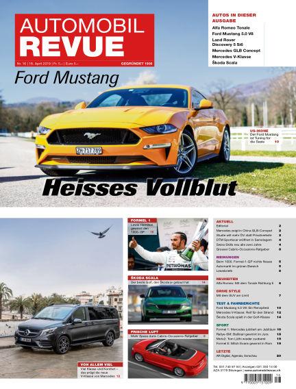Automobil Revue April 18, 2019 00:00