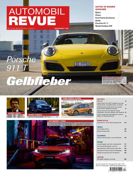 Automobil Revue April 26, 2019 00:00