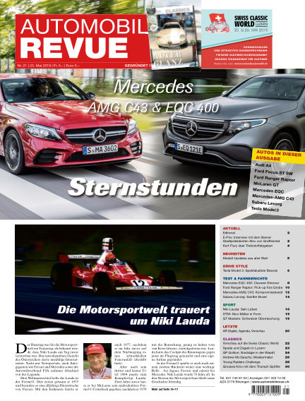 Automobil Revue May 23, 2019 00:00