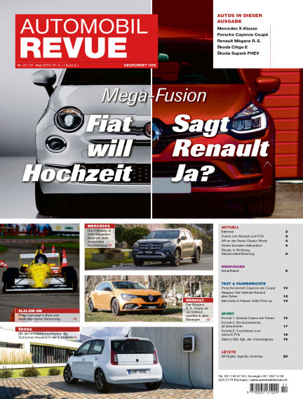 Automobil Revue May 31, 2019 00:00