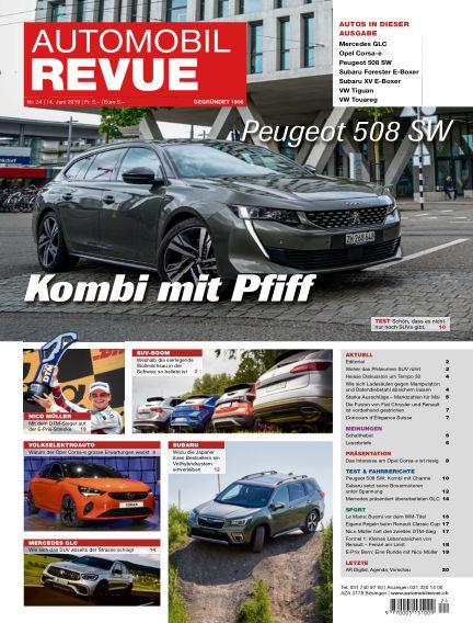 Automobil Revue June 14, 2019 00:00