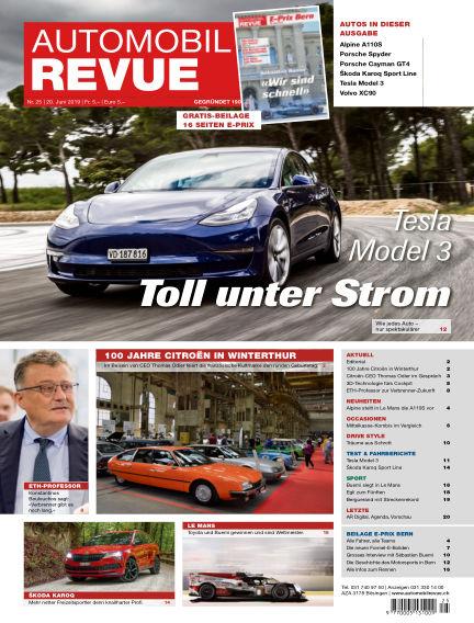 Automobil Revue June 20, 2019 00:00