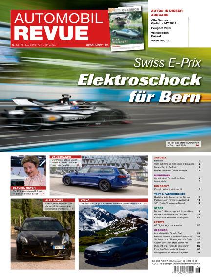 Automobil Revue June 27, 2019 00:00