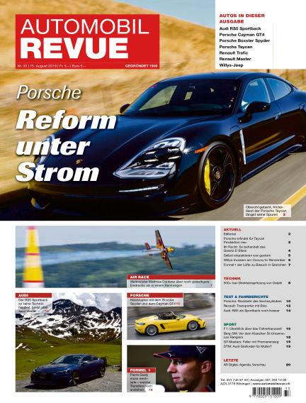 Automobil Revue August 15, 2019 00:00