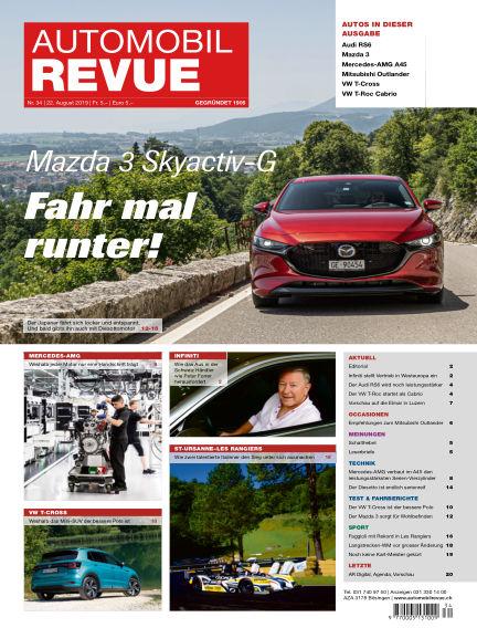 Automobil Revue August 22, 2019 00:00
