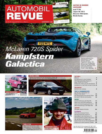 Automobil Revue August 29, 2019 00:00