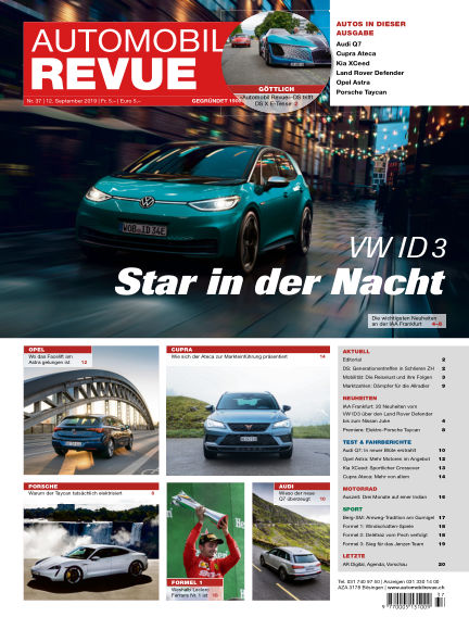 Automobil Revue September 12, 2019 00:00