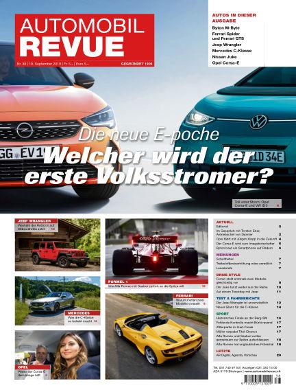 Automobil Revue September 19, 2019 00:00