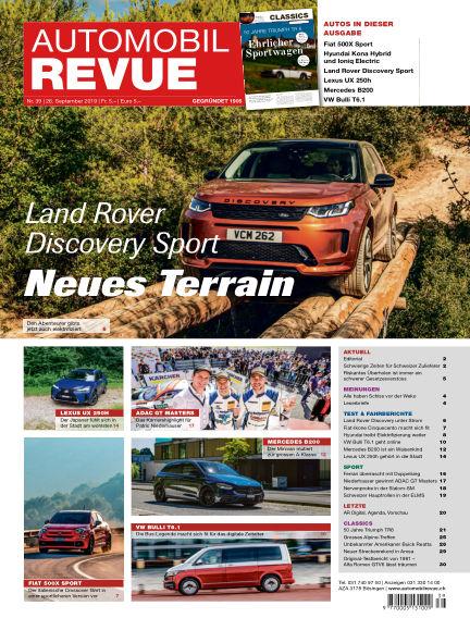 Automobil Revue September 26, 2019 00:00