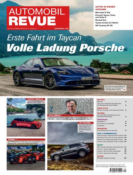 Automobil Revue October 03, 2019 00:00