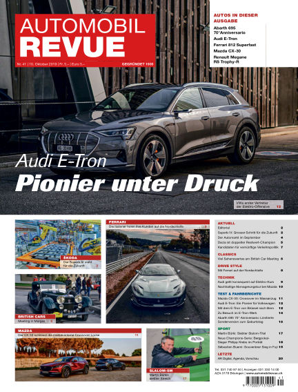 Automobil Revue October 10, 2019 00:00