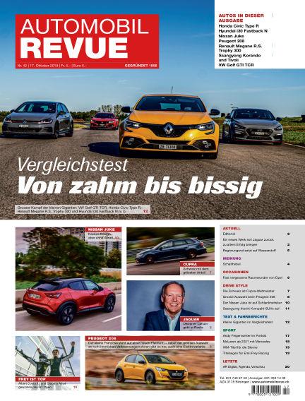 Automobil Revue October 17, 2019 00:00