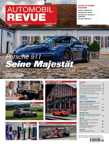 Automobil Revue November 07, 2019 00:00