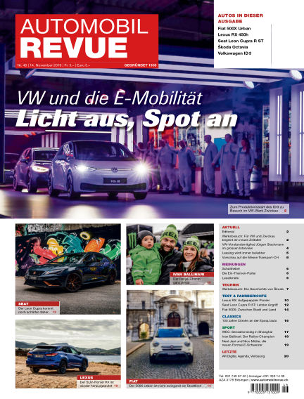 Automobil Revue November 14, 2019 00:00