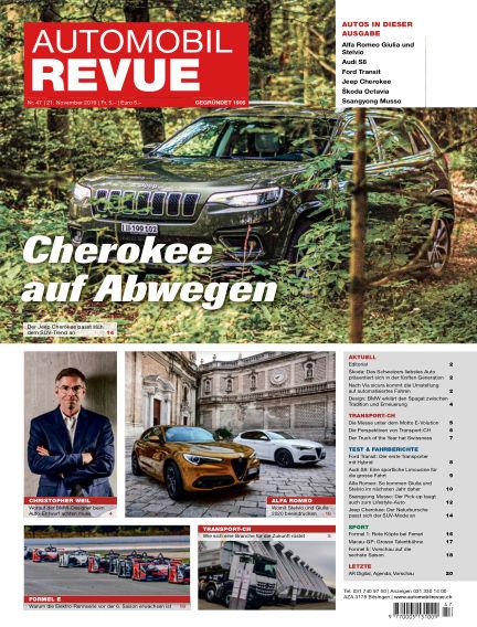 Automobil Revue November 21, 2019 00:00