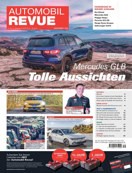 Automobil Revue December 05, 2019 00:00