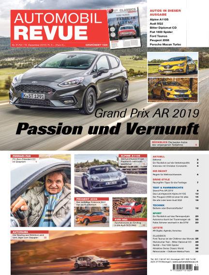 Automobil Revue December 19, 2019 00:00