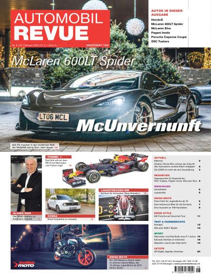 Automobil Revue February 20, 2020 00:00