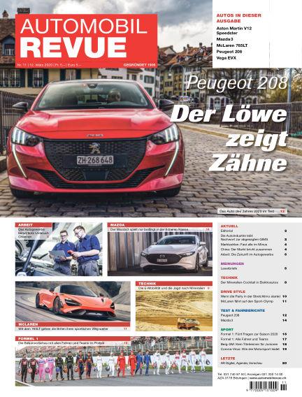 Automobil Revue March 12, 2020 00:00