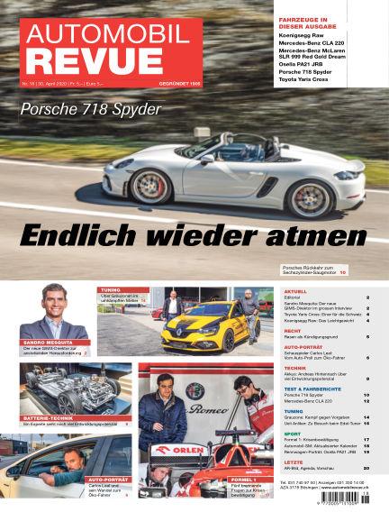 Automobil Revue April 30, 2020 00:00