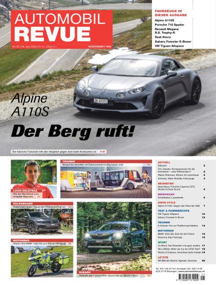 Automobil Revue June 18, 2020 00:00
