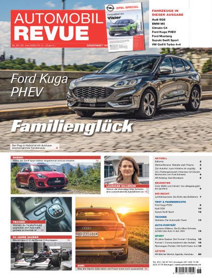 Automobil Revue June 25, 2020 00:00