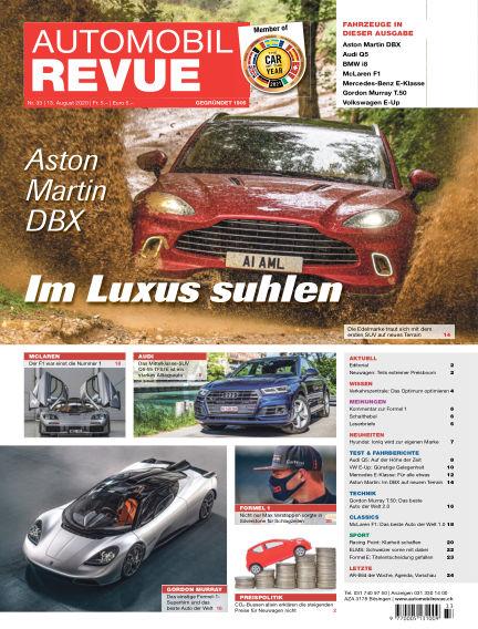 Automobil Revue August 13, 2020 00:00