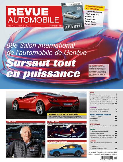 Revue Automobile March 07, 2019 00:00