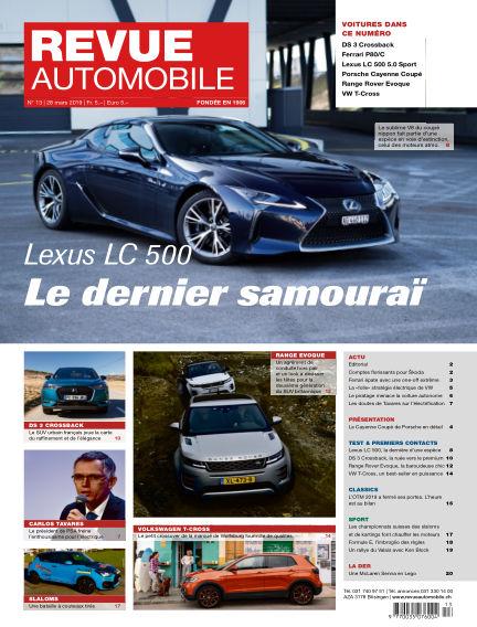 Revue Automobile March 28, 2019 00:00