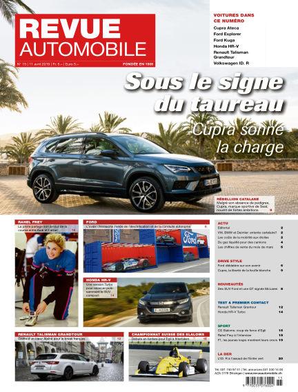 Revue Automobile April 11, 2019 00:00