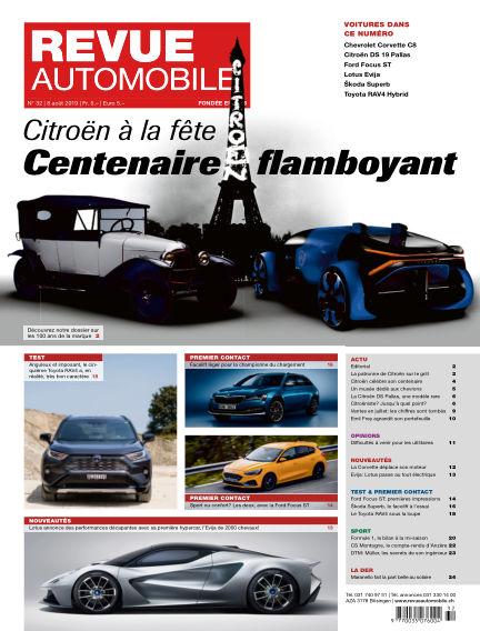 Revue Automobile August 08, 2019 00:00