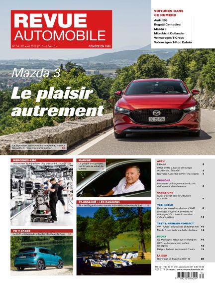 Revue Automobile August 22, 2019 00:00