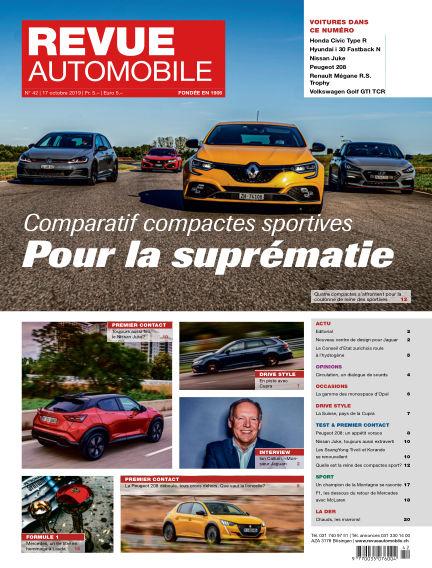 Revue Automobile October 17, 2019 00:00