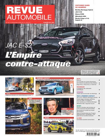 Revue Automobile December 12, 2019 00:00