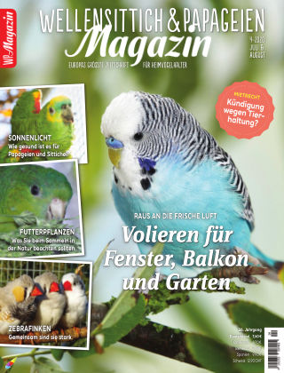 WP-Magazin Wellensittich & Papageien 04/2020
