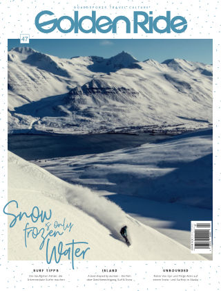 Golden Ride Magazine - Surf / Bike / Snowboard-Mag für Frauen 47 - Snowbaord Issue