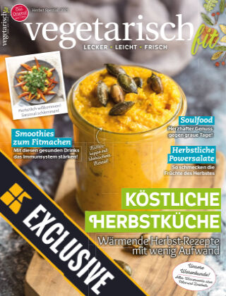 Vegetarisch fit Readly Exclusive Herbstküche