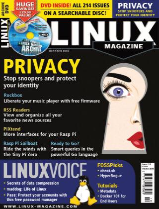 Linux Magazine #215: October 2018